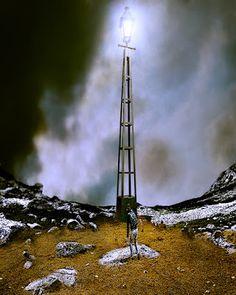 TaxusArt: Coward Utility Pole, Wind Turbine