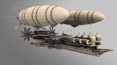 DeviantArt: More Collections Like 1884 Ebrill Tricorn Airship by RichMorgan Steampunk Ship, Steampunk Design, Fantasy Landscape, Fantasy Art, Steampunk Machines, Steampunk Illustration, Flying Ship, Steampunk Furniture, Cardboard Sculpture