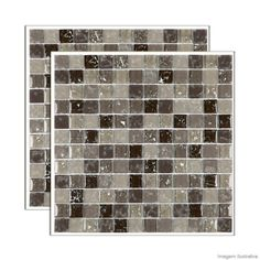 Pastilha de vidro Ice placa 30x30xcm marrom Glass Mosaic - Telhanorte