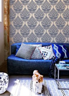 Indian Paisley Damask Stencil | Monochromatic look with mixed and matched patterns