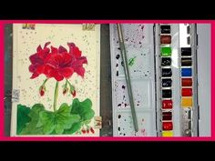 Geraniums in Watercolor Loose Painting Tutorial with Glazing Technique - YouTube