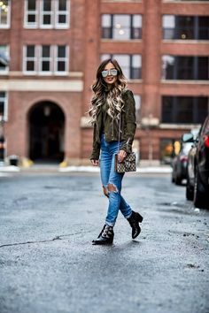 7fffaf6f4ee mn fashion blogger mia mia mine wearing an olive suede jacket and a triple  buckle booties