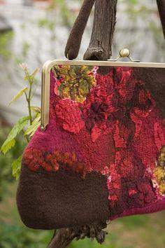 Vintage Style Felted Handbag