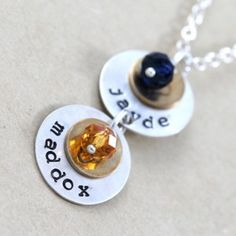 Personalized Necklaces from Etsy.  #gifts