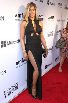 4. Laverne Cox At The 2015 AmfAR Inspiration Gala | The Most Fab And Drab Celebrity Looks Of The Week