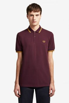 Buy Fred Perry Twin Tipped Poloshirt from the Next UK online shop Fred Perry Polo Shirts, Fred Perry Shirt, Tennis Shirts, Polo T Shirts, Celebrity Closets, Celebrity Style, Pique Shirt, Twin Tips, Tennis Fashion