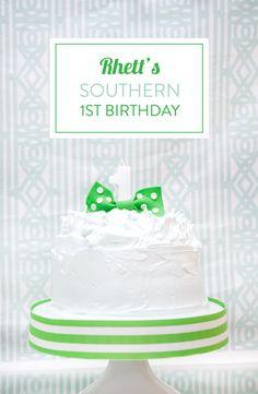 Rhett's Southern First Birthday Party by Emily McCarthy