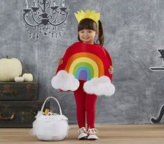 Shop toddler Halloween costumes at Pottery Barn Kids. Find cute and cool Halloween costumes that are easy to put on and comfortable to trick or treat in. Toddler Girl Halloween, Toddler Halloween Costumes, Creative Halloween Costumes, Baby Costumes, Cute Costumes For Kids, Rainbow Costumes, Halloween Disfraces, Pottery Barn Kids, Fall Halloween
