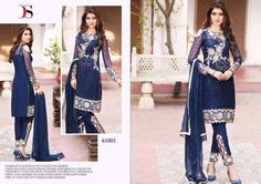 Punjabi Patiala Wedding Blue Salwar Kameez Bollywood Indian Embroidered Ethnic #Handmade #SalwarKameez