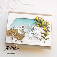 Stamp A Stack, Cute Birthday Cards, Have A Happy Day, Color Depth, Bird Cards, Having A Blast, Greeting Cards Handmade, Homemade Cards, Stampin Up Cards