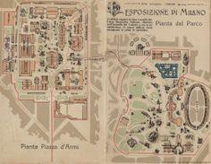 Esposizione di Milano #grafica #milano #mappa #stora