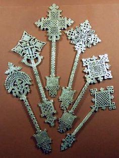 6 X Ethiopian Coptic Hand Cross Orthodox Church African ART Christian Ethiopie | eBay