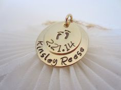 Gold Mommy Baby Feet Necklace by EllenBKeepsakes on Etsy, $39.00