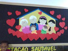 Arte, Educação e Sucata: Mural da família  A família é muito importante par... Craft Stick Crafts, Preschool Crafts, Diy And Crafts, Crafts For Kids, Display Boards For School, School Displays, Family Tree For Kids, Family Day, Grandparents Day Preschool