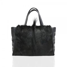 ANTELOPE TOTE by PEcado Handbags - Genuine black antelope hide with combination of cowhide leather - #fashion #style #accessories #designer #fashionblog #luxe #fashiondiaries #igfashion #instyle