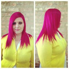 #bright #pinkhair by Jessica at #strangebeautyshow!