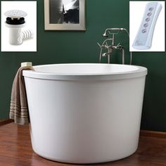 Round soaking tub - I would never get out of it!