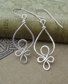 Celtic Loops Sterling Silver Wire Earrings by nicholasandfelice