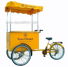 Triporteur glace I ice cream cart I Eisfahrrad I charrette… Mobile Cafe, Mobile Shop, Gelato, Microcar, Tricycle, Kombi Trailer, Bicycle Cart, Veuve Cliquot, Bike Food