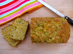 Healthy Toddler Food- Zucchini Cheddar Bread - absolutely SCRUMPTIOUS!  We substituted whole wheat pastry flour for the white flour, and only used 1/4 tsp of salt (instead of 1 tsp).  Cheesy, delicious and nutritious!