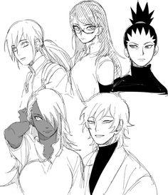 Inojin, Sarada, Shikadai, ChoCho, and Mitsuki
