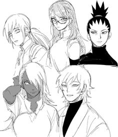 Inojin, Sarada, Shikadai, ChoCho, and...... Hmmmmm, wow I forgot his name.  *cough* *cough* Mitsuki