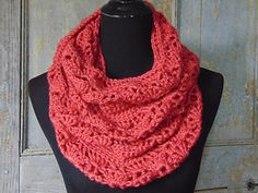 Rouge Infinity Scarf pattern by Sheri Weber free on blog