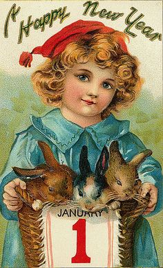 A basket of bunnies to wish you a happy New Year!