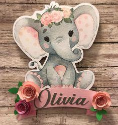 Decoración con motivo de #elefante para #babyshower de niña