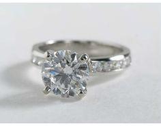 2.42 Carat Diamond Channel Set Diamond Engagement Ring | Blue Nile Engagement Rings