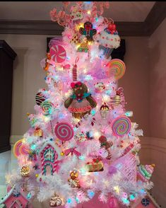 This candyland tree is life This candyland tree is life – Christmas – Noel 2020 ideas Candy Land Christmas, Candy Christmas Decorations, Grinch Christmas, Christmas Tree Themes, Xmas Tree, Christmas Crafts, Christmas Holidays, Christmas Shopping, Rainbow Christmas Tree