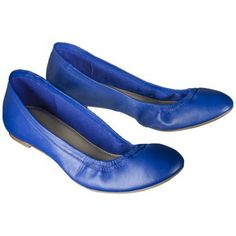 Women's Merona® Emma Genuine Leather Flat in Cobalt, Clearance for $19.98 at Target