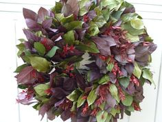 Spring and Summer Wreath Lavender Salal Wreath by donnahubbard