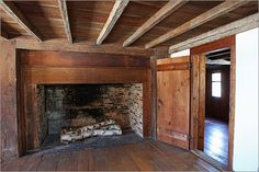 The north parlor also has a large fireplace.