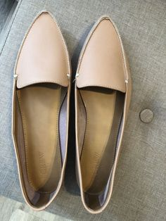 0ad6c4851f1b J. Crew Factory Womens Size 75 Nude Leather Edie Loafers Flats Shoes New   fashion