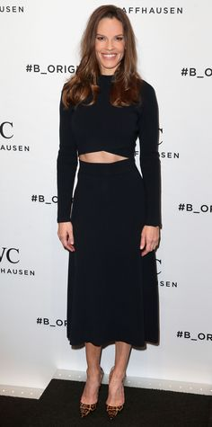 Look of the Day - Hilary Swank  - from InStyle.com