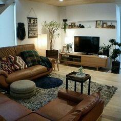 chieさんの、Lounge,観葉植物,ソファー,DIY,模様替え,秋色,ニトリのクッションカバー,ニトリのカゴ,ニトリの照明,グリーンのある暮らしについての部屋写真