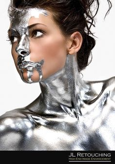 Notes: Silver body paint (Used in Metal Maiden photoshoot).