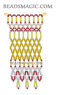 Free pattern for beaded necklace Semiramis in egyptian style U need: seed beads bugles Beaded Necklace Patterns, Beading Patterns, Diy Jewelry Necklace, Beaded Necklaces, Necklace Ideas, Necklace Designs, Craft Jewelry, Free Beading Tutorials, Homemade Necklaces