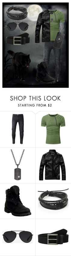 """Derek Hale inspired"" by ferendel76 ❤ liked on Polyvore featuring Rhona Sutton, Timberland, Bally, men's fashion and menswear"