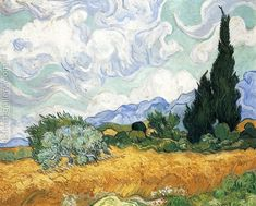 Wheatfield with Cypress I Vincent Van Gogh Reproduction | 1st Art Gallery