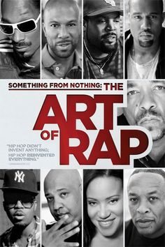 Something from Nothing: The Art of Rap Movie Poster - Ice-T, Dr. Dre, Eminem  #SomethingfromNothing, #TheArtofRap, #MoviePoster, #Documentary, #Eminem