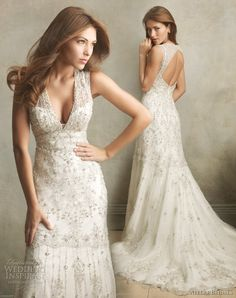 Allure bridals wedding dress couture gown 2011