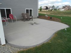 Concrete Patio Designs Rounded Slab