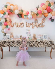 2nd Birthday Party For Girl, Second Birthday Ideas, Safari Birthday Party, Girl Birthday Themes, Birthday Party Decorations, Summer Birthday, Paris Birthday, Spa Birthday, Toddler Party Ideas