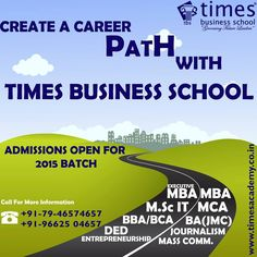 Hurry Up!! Admission open for MCA 2015 at Times Business School Ahemdabad