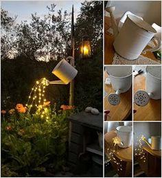 11 Φανταστικές Αυτοσχέδιες Ιδέες φωτισμού για τον κήπο, την αυλή, το μπαλκόνι!