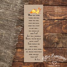 When you think things are bad - Bookmark The Way You Are, How Are You Feeling, My Bookmarks, Tag Design, School Gifts, Sympathy Cards, Paper Gifts, Understanding Yourself, Graduation Gifts