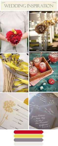 Loving the color palette. Takes the yellow and gray I love and adds a pop of red!