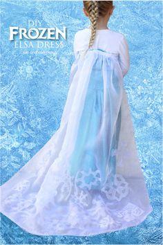 DIY Frozen Elsa Dress Queen Elsa Cape No Sew HAlloween Costume #costume #cape #elsa #disney